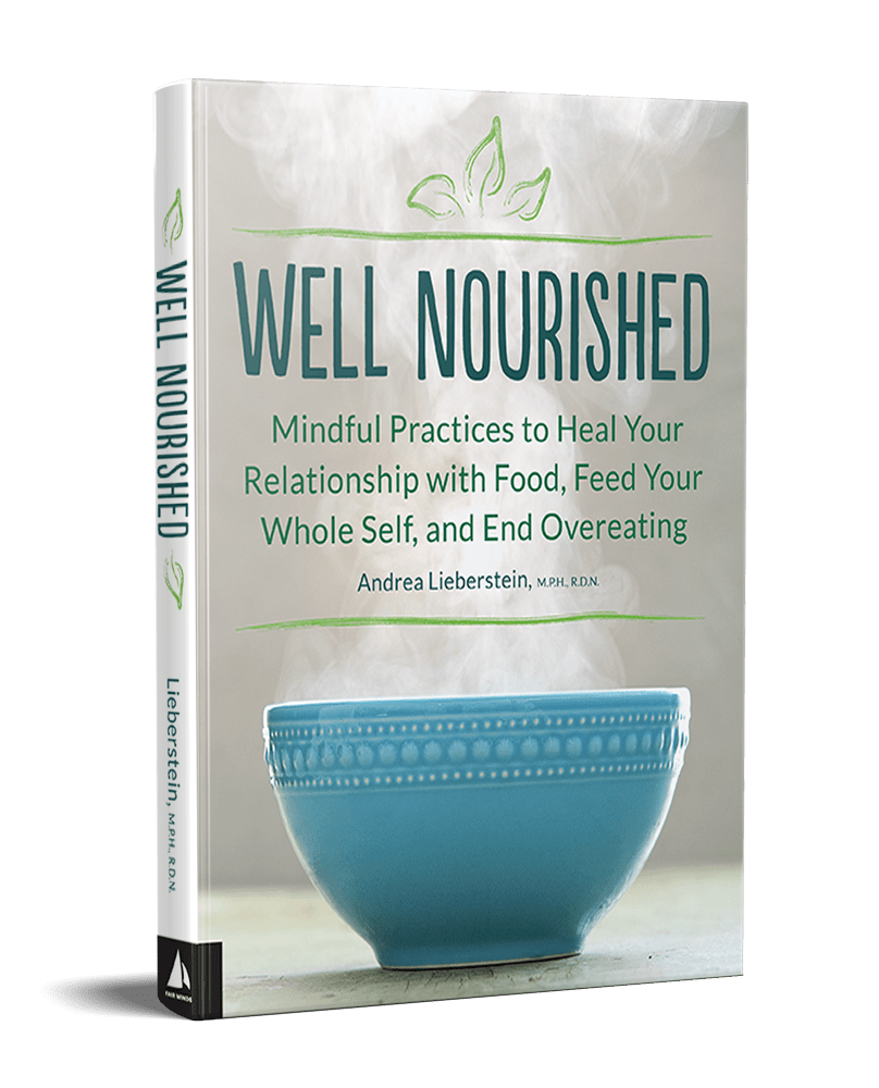 Well Nourished, the first book from internationally known teacher, trainer and coach Andrea Lieberstein.